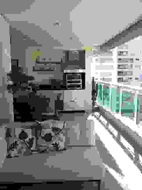 Apartamento Condomínio Central Park - Mooca Varandas, alpendres e terraços modernos por Projetual Arquitetura Moderno