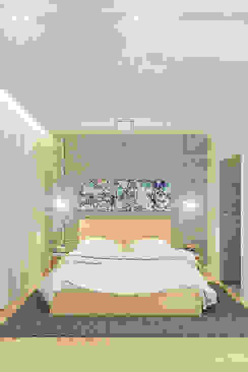 Projekt wnętrz apartamentu w kamienicy na krakowskim Kazimierzu Nowoczesna sypialnia od COOLDESIGN Nowoczesny