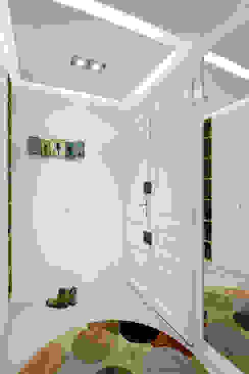 Projekt wnętrz apartamentu w kamienicy na krakowskim Kazimierzu Nowoczesny korytarz, przedpokój i schody od COOLDESIGN Nowoczesny