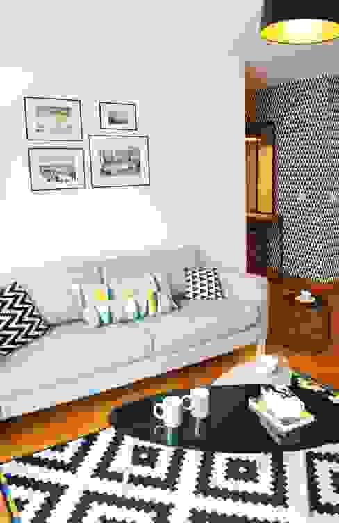 Appartement 60m² - Villejuif Salon scandinave par Sandrine Carré Scandinave