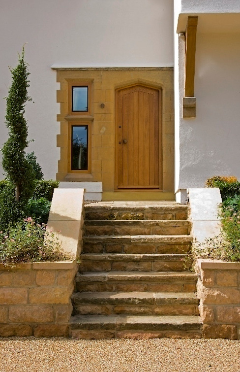 Front Entrance Country style house by Wildblood Macdonald Country