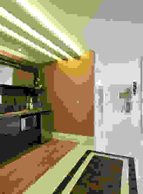 Pasillos, vestíbulos y escaleras modernos de Studio Claudia Pimenta e Patricia Franco Decoração de Interiores Moderno