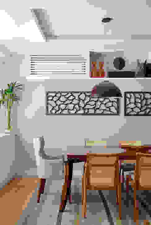 Sala de estar Da.Hora Arquitetura Salas de jantar ecléticas