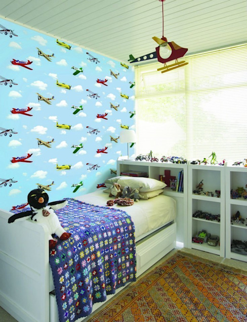 Dormitorios infantiles de estilo moderno de 4 Duvar İthal Duvar Kağıtları & Parke Moderno