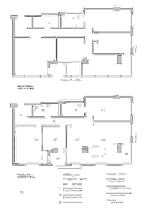 Planos estado inicial y estado actual LLIBERÓS SALVADOR Arquitectos