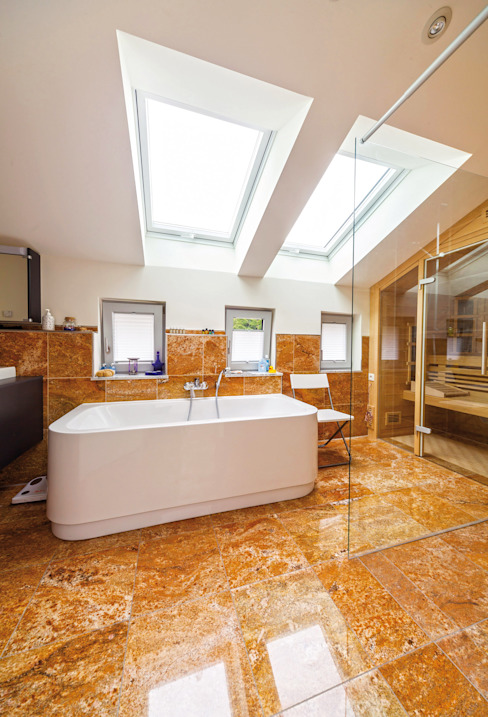 Mediterranean style bathrooms by Haacke Haus GmbH Co. KG Mediterranean