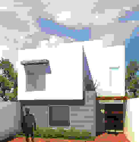 Vista principal casa C-QU: Casas de estilo  por ODRACIR, Moderno