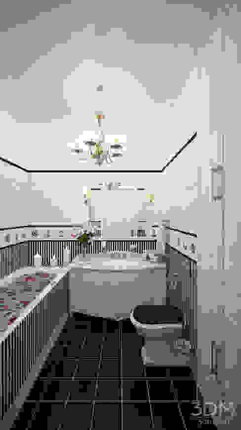 Minimalistische badkamers van студия визуализации и дизайна интерьера '3dm2' Minimalistisch