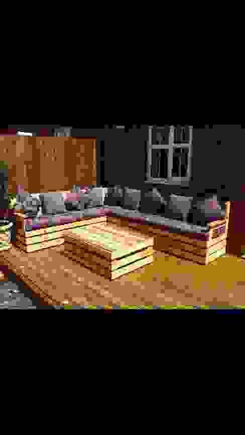 Garden corner unit : rustic  by Pallet furniture uk, Rustic