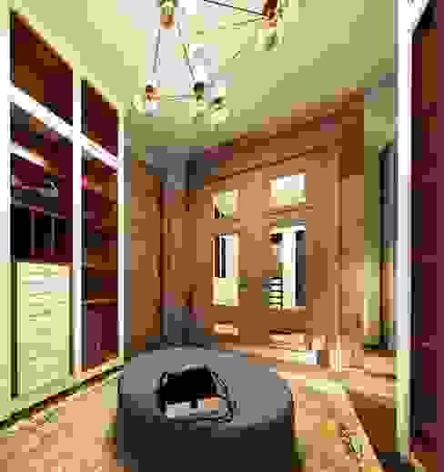 Квартира в ЖК «ЛИТЕРАТОР» Гардеробная в эклектичном стиле от KOSHKA INTERIORS Эклектичный