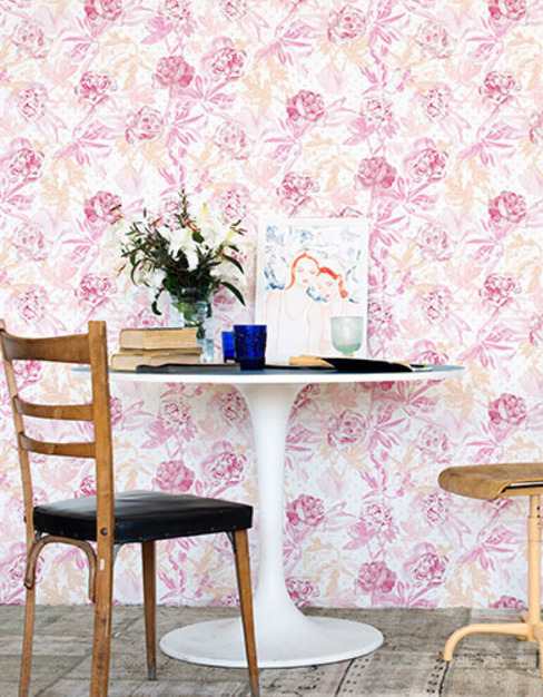A superb collection of watercolour wallpaper designs by Lara Costafreda от Paper Moon Кантри