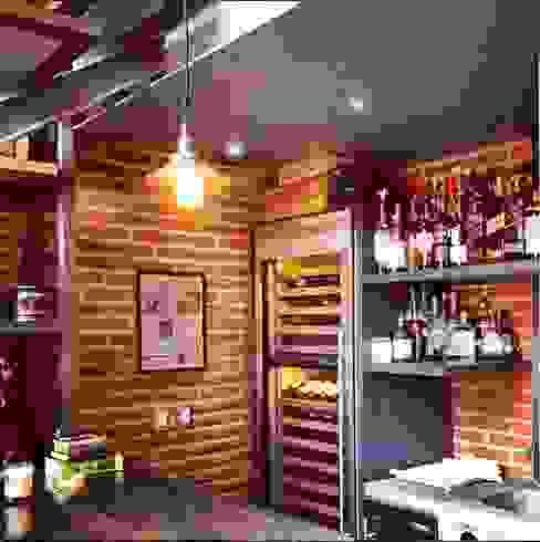 Bar Cocinas de estilo moderno de Quinto Distrito Arquitectura Moderno Ladrillos