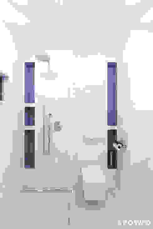 Łazienka Wola Justowska Nowoczesna łazienka od SPOIWO studio Nowoczesny