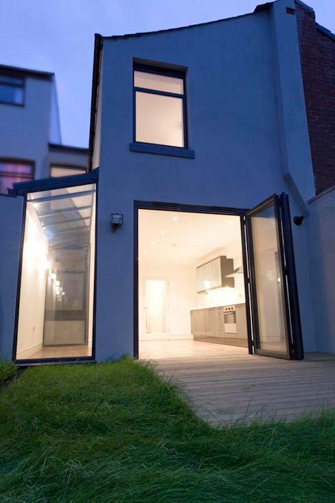 Rear elevation after: modern  by Ben Jurin Architecture Ltd, Modern