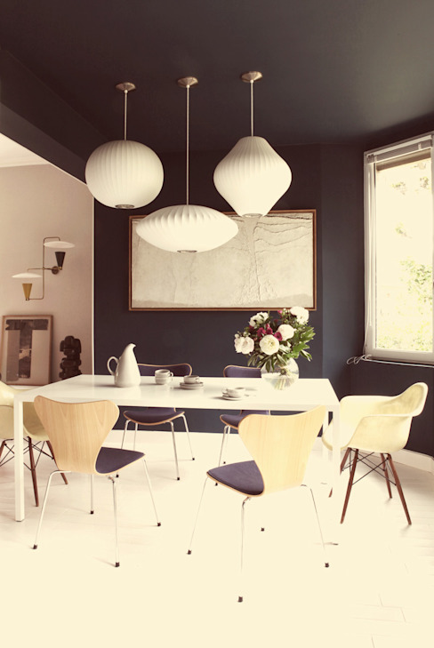Maud et Gabriel Salle à manger moderne par Ludlow Interior Moderne