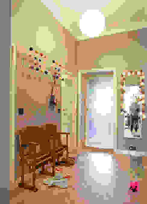 Hol Eklektyczny korytarz, przedpokój i schody od Pink Pug Design Interior Eklektyczny