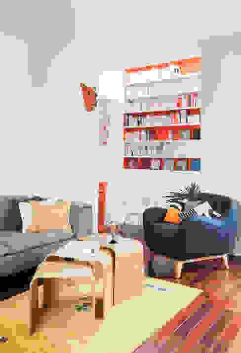bibliotheque Salon moderne par goodnova godiniaux Moderne