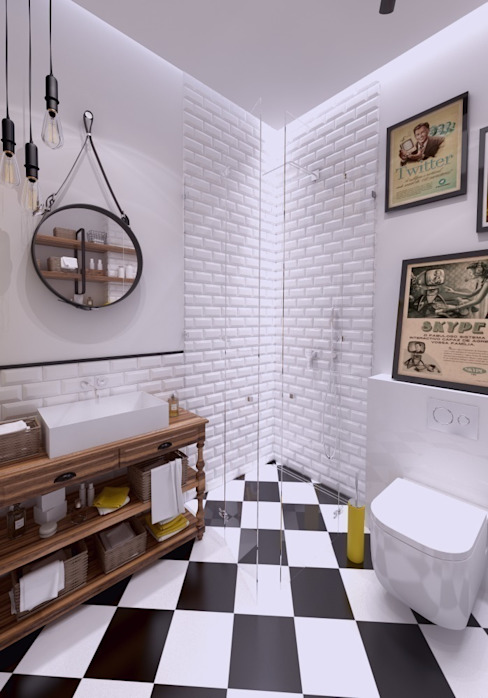 Industrial style bathrooms by The Vibe Industrial