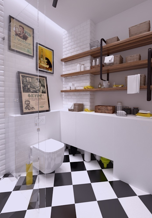 Industrial style bathroom by The Vibe Industrial