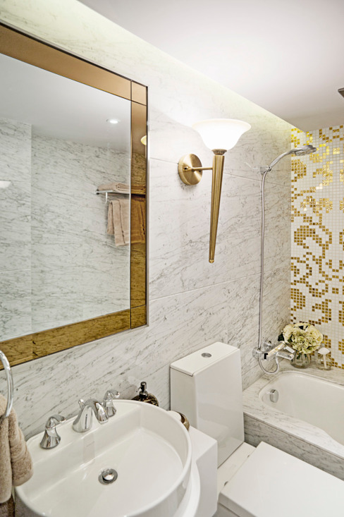Metropolitan Heights | High-End Apartment by London Modern style bathrooms by homify Modern