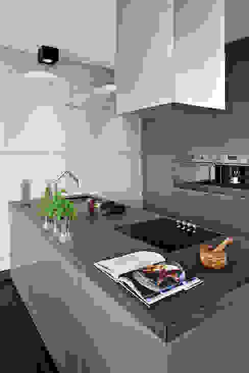Industrialny Loft : styl , w kategorii Kuchnia zaprojektowany przez justyna smolec architektura & design,Nowoczesny