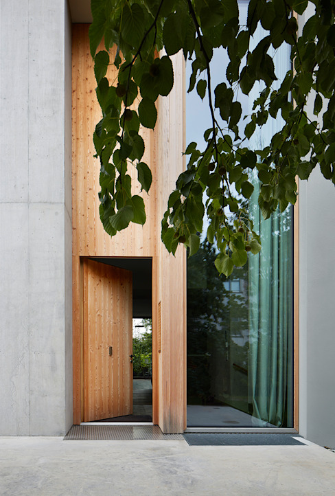 Eingang zur Halle Moderne Fenster & Türen von feliz Modern