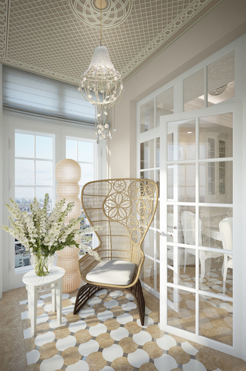 Eclectic style balcony, porch & terrace by FAOMI Eclectic