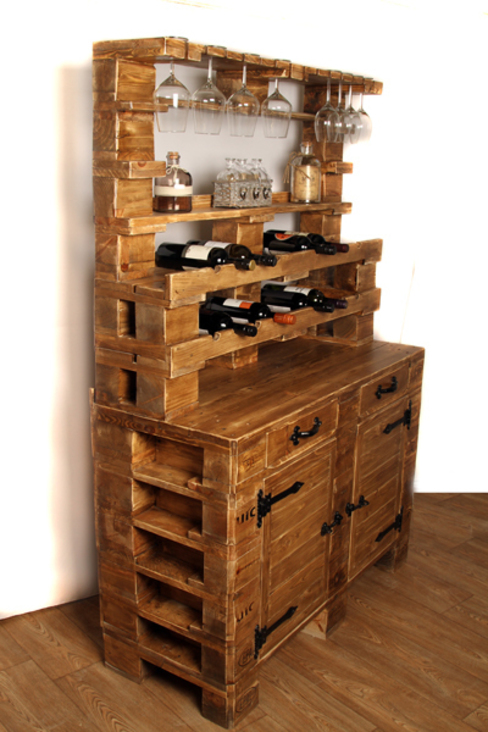 Wine cabinet Pallet Stuff Glasgow Dining roomWine racks