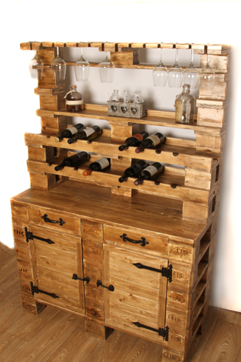 Wine cabinet Pallet Stuff Glasgow 餐廳櫥櫃