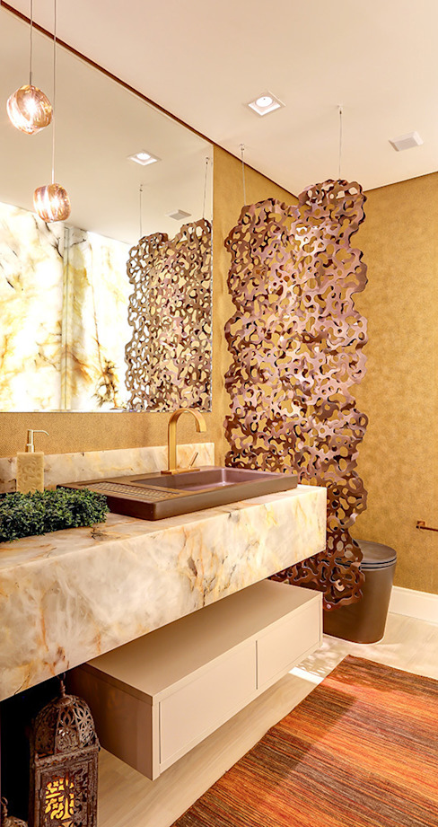 Kamar Mandi oleh Marcia Debski Ferreira Designer de Interiores