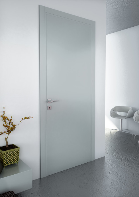 Minimal style window and door by Phi Porte Minimalist Wood Wood effect