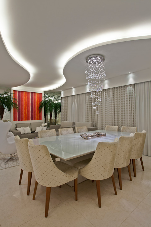 Dining room by Designer de Interiores e Paisagista Iara Kílaris, Modern