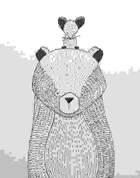 handmade illustratie beer kinderkamervintage van Kinderkamervintage Scandinavisch