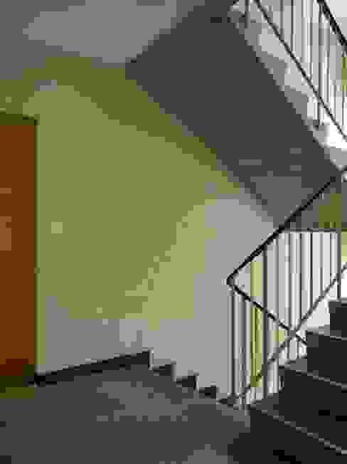 Treppenhaus mit sanierter Cliché-Ornamentik im Stil der 1950er Jahre Moderner Flur, Diele & Treppenhaus von André Born Architekt BSA Modern