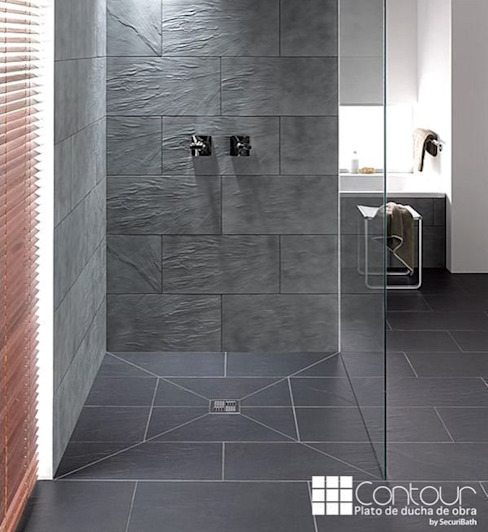 Plato de ducha Contaur de Securibath SecuriBath Baños de estilo mediterráneo