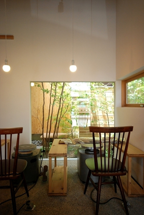 福釜の家 オリジナルデザインの 多目的室 の 神谷建築スタジオ オリジナル