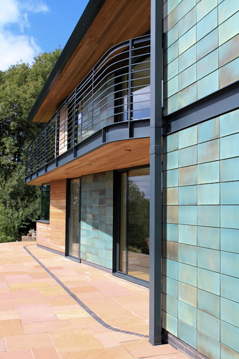 Blue Door, Monmouthshire Modern houses by Hall + Bednarczyk Architects Modern