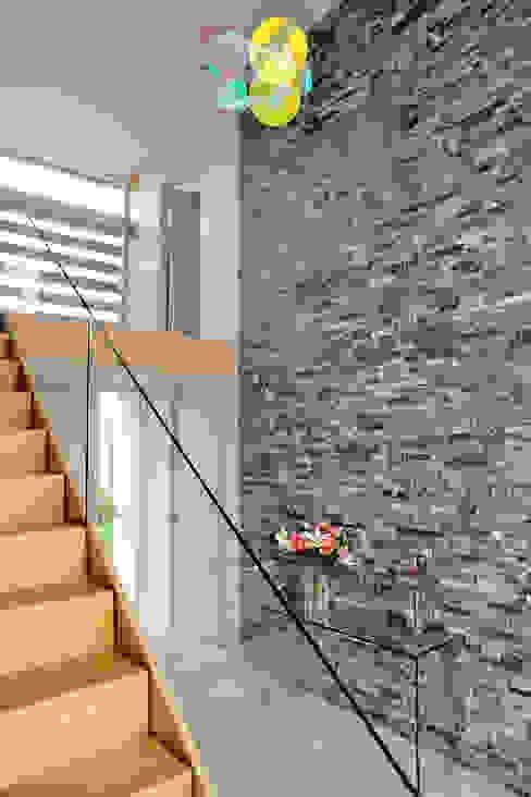 Llambetta House, Usk Modern corridor, hallway & stairs by Hall + Bednarczyk Architects Modern