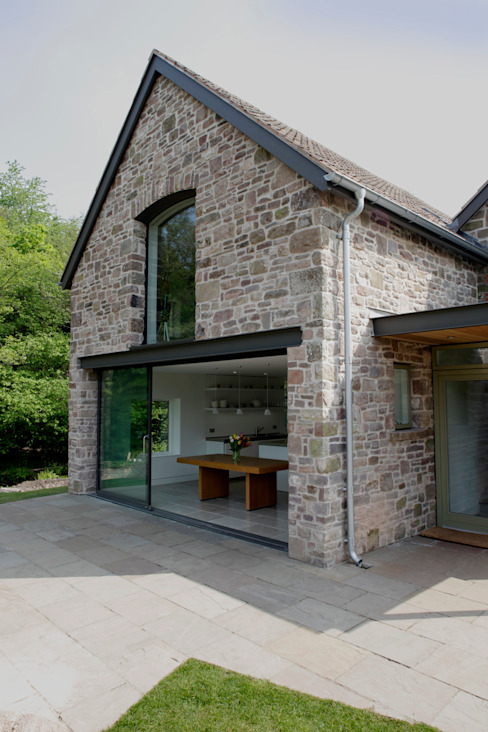 Veddw Farm, Monmouthshire 모던스타일 주택 by Hall + Bednarczyk Architects 모던