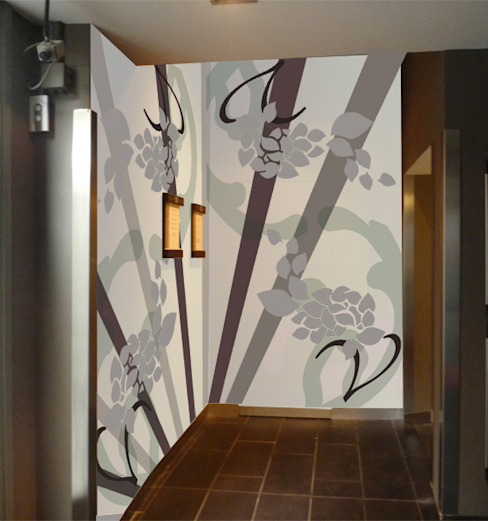 Corredores, halls e escadas modernos por Murales Divinos Moderno