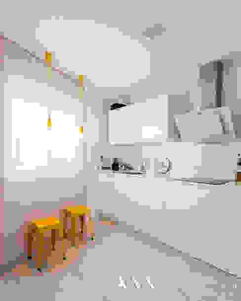 cocina moderna minimalista Cocinas de estilo moderno de Arquitectos Madrid 2.0 Moderno