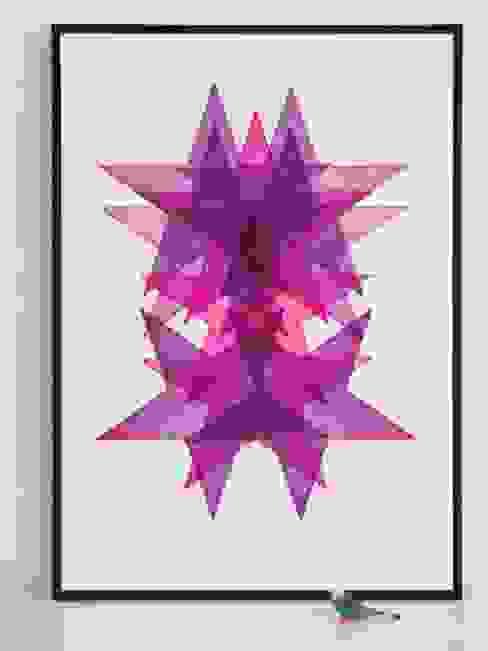 Star Portrait No.1: modern  by Lucky budgie Letterpress, Modern