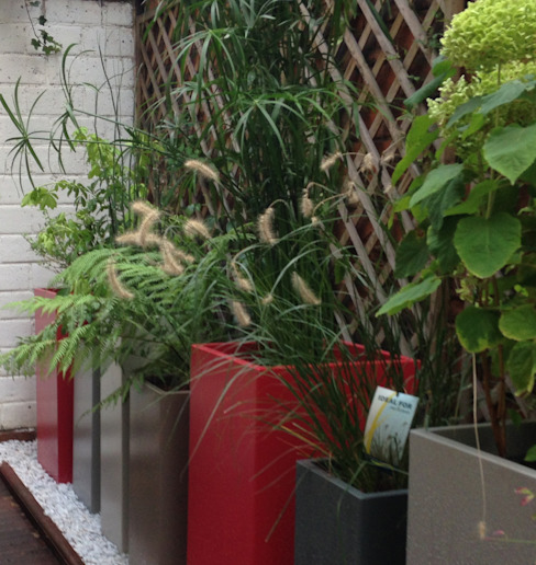 Bacs IMAGE'IN Hauts en couleurs ! Balcon, Veranda & Terrasse modernes par ATELIER SO GREEN Moderne