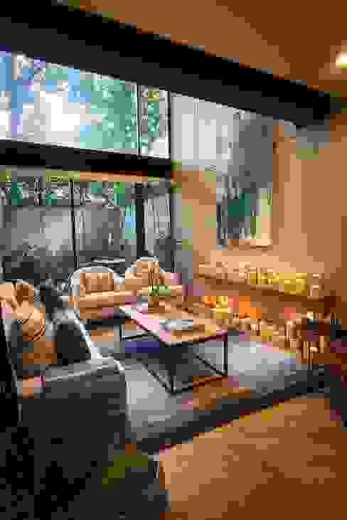 Departamento Tres Picos Salones modernos de Concepto Taller de Arquitectura Moderno