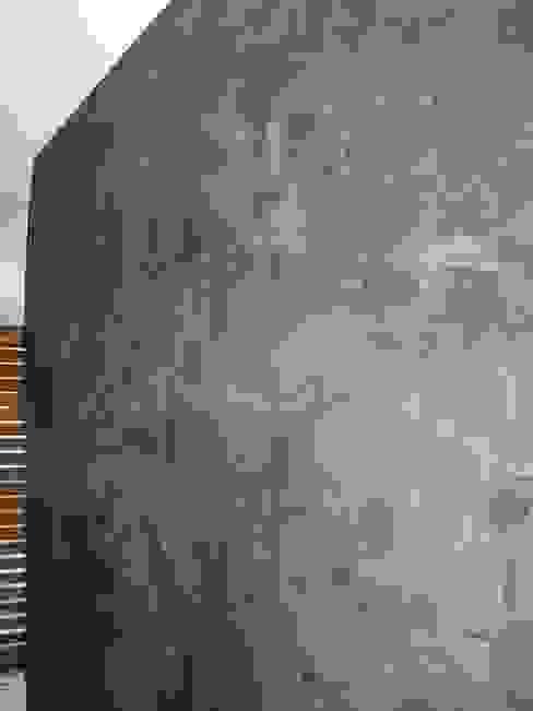 Parete Stucco a Cera Nero Arte & Decorazioni di Marco Sinibaldi Soggiorno moderno