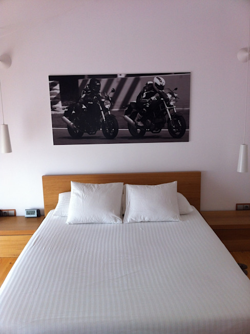 cabecero Dormitorios de estilo industrial de SMMARQUITECTURA Industrial