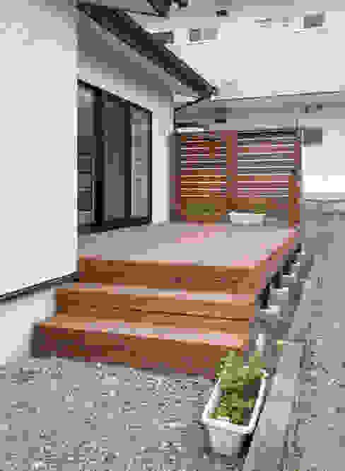 吉田設計+アトリエアジュール Balcones y terrazas modernos