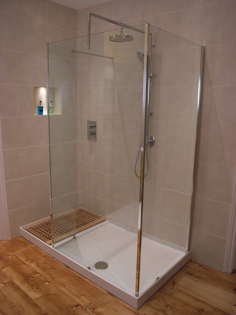 Walk-in shower Modern bathroom by Style Within Modern