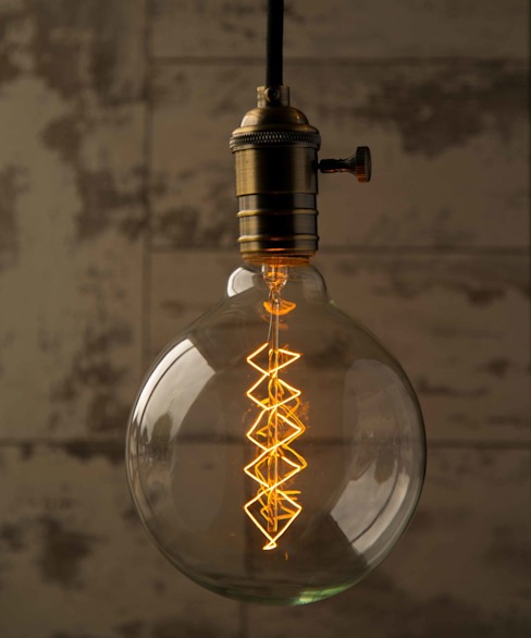 Globe Xlarge Spiral - Vintage Light Bulb: industrial  by William and Watson, Industrial