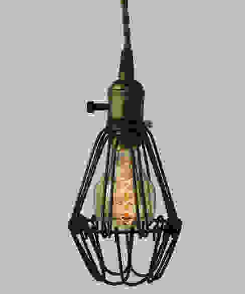 Vintage Pendant Cage - Skull Filament Light Bulb par William and Watson Industriel